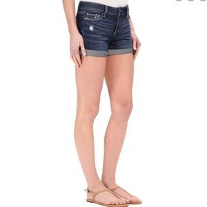 Paige Distressed Cuffed Shorts Blue Size 27